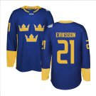 2016 World Cup Ice Hockey Sweden Jerseys  # 21 Loui Eriksson
