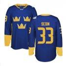 2016 World Cup Ice Hockey Sweden Jerseys  #33 Henrik Sedin