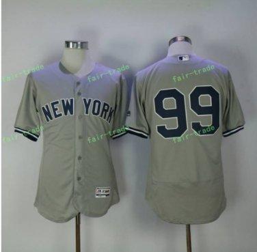 2017 New York Yankee Jersey #99 Aaron Judge home Gray Cool Base Aaron Judge Yankee Flexbase Jersey