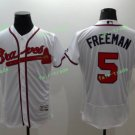 2017 Park Commemorative Patch Atlanta Braves Mens #5 Freddie Freeman Cool Base Jersey White