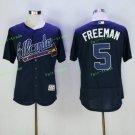 2017 Park Commemorative Patch Atlanta Braves Mens #5 Freddie Freeman Cool Base Jersey Black