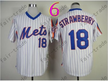 18 Darryl Strawberry Jersey Vintage New York Mets Jerseys White Throwback..