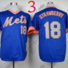 18 Darryl Strawberry Jersey Vintage New York Mets Jerseys Blue Throwback