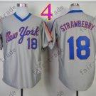18 Darryl Strawberry Jersey Vintage New York Mets Jerseys Grey Throwback