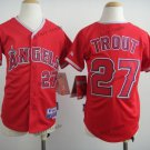 youth los angeles angels #27 mike trout 2015 Baseball Jersey Rugby Jerseys Authentic color Red