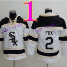 Chicago White Sox #2 Nellie Fox Baseball Hooded Stitched Old Time Hoodies Sweatshirt Jerseys
