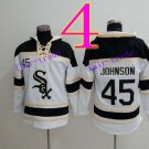 Chicago White Sox  #45 Baseball Hooded Stitched Old Time Hoodies Sweatshirt Jerseys