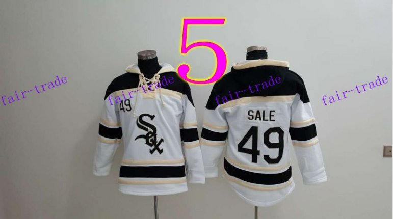 Chicago White Sox  #49 chris sale Baseball Hooded Stitched Old Time Hoodies Sweatshirt Jerseys