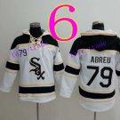 Chicago White Sox #79 Jose Abreu  Baseball Hooded Stitched Old Time Hoodies Sweatshirt Jerseys