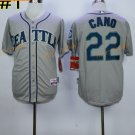 22 Robinson Cano Seattle Mariners Baseball Jerseys Cooperstown Vintage Flexbase Cool Base Grey