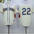 22 Robinson Cano Seattle Mariners Baseball Jerseys Cooperstown Vintage Flexbase Cool Base White