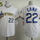#22 Robinson Cano Seattle Mariners Baseball Jerseys Cooperstown Vintage Flexbase Cool Base White