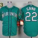 #22 Robinson Cano Seattle Mariners Baseball Jerseys Cooperstown Vintage Flexbase Cool Base Green