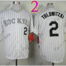 Colorado Rockies Jerseys 2# Troy Tulowitzki Jersey White 20TH Patch