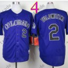 Colorado Rockies Jerseys 2# Troy Tulowitzki Jersey Purple 20TH Patch