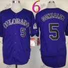 Colorado Rockies Jerseys  5# Carlos Gonzalez Jersey Purple 20TH Patch