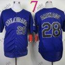 Colorado Rockies Jerseys  28 Nolan Arenado Jersey Purple 20TH Patch