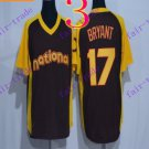 chicago cubs #17 kris bryant 2016 Baseball Jersey Rugby Jerseys Black Style 2