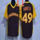 chicago cubs  #49 Jake Arrieta 2016 Baseball Jersey Rugby Jerseys Black