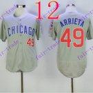 chicago cubs  #49 Jake Arrieta 2016 Baseball Jersey Rugby Jerseys Gray