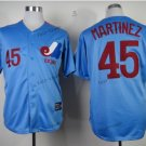 montreal expos #45 pedro martinez 2015 Baseball Jersey Blue  Rugby Jerseys Authentic Stitched