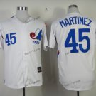 montreal expos #45 pedro martinez 2015 Baseball Jersey White Rugby Jerseys Authentic Stitched S1