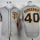 san francisco #40 madison bumgarner 2015 Baseball Jersey Rugby Jerseys Authentic Stitched Light Gray