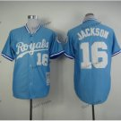 kansas city royals #16 bo jackson 2015 Baseball Jersey Rugby Jerseys Authentic Stitched Blue