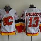 Gaudreau Hockey Jerseys Calgary Flames #13 Johnny Gaudreau Home White Stitched TOP Quality