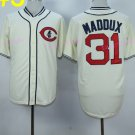 conew_chicago cubs #31 greg maddux cream 1929 2016 Baseball Jersey Rugby Jerseys