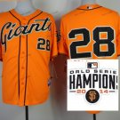 san francisco giants #28 buster posey 2015 Baseball Jersey Authentic Stitched Orange