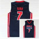1992 USA Dream Team Larry Bird Jersey 7 Throwback Indiana State Sycamores College Jerseys Home Navy