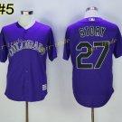 Colorado Rockies 27 Trevor Story Jersey Base Flexbase Trevor Story Baseball Jerseys Purple Style 2