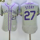 Colorado Rockies 27 Trevor Story Jersey Base Flexbase Trevor Story Baseball Jerseys Gray Style 2