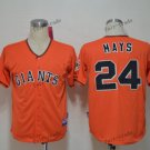san francisco giants #24 willie mays 2015 Baseball Jersey Rugby Jerseys Orange Style 1