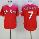 New Baseball 7 Ivan Rodriguez Jersey Texas Rangers Cooperstown Flexbase Base Pullover Button Red