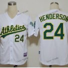 oakland athletics #24 rickey henderson 2015 Baseball Jersey  Rugby Jerseys Authentic Stitched White