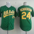 oakland athletics #24 rickey henderson 2015 Baseball Jersey  Rugby Jerseys Authentic Stitched Green