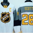 #28 John Scott Hockey Jersey 2016 All Star Ice Hockey Jerseys 28 Scott MVP Jersey C Patch White
