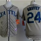 seattle mariners #24 ken griffey 2015 Baseball Jersey Rugby Jerseys Authentic Stitched Gray