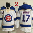 Chicago Cubs #17 kris bryant Baseball Hooded Stitched Old Time Hoodies Sweatshirt Jerseys