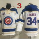 Chicago Cubs #34 jon lester Baseball Hooded Stitched Old Time Hoodies Sweatshirt Jerseys