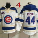 Chicago Cubs #44 Anthony Rizzo Baseball Hooded Stitched Old Time Hoodies Sweatshirt Jerseys