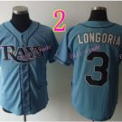 Evan Longoria Jersey Gray Tampa Bay Rays Cool Base Uniforms Style 2