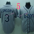 Evan Longoria Jersey Gray Tampa Bay Rays Cool Base Uniforms Style 1