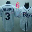 Evan Longoria Jersey White Tampa Bay Rays Cool Base Uniforms