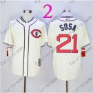 Sammy Sosa Jersey Chicago Cubs 21# Baseball Jersey, Stitched High Quality White Style 2