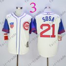 Sammy Sosa Jersey Chicago Cubs 21# Baseball Jersey, Stitched High Quality White Style 3