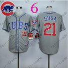 Sammy Sosa Jersey Chicago Cubs 21# Baseball Jersey, Stitched High Quality Gray