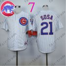 Sammy Sosa Jersey Chicago Cubs 21# Baseball Jersey, Stitched High Quality White Style 4
